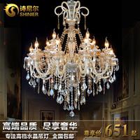 Candle crystal pendant light fashion brief modern lighting fashion lamps
