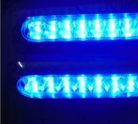 Free Shipping 2 x 16 LED DRL Daylight Running Light Waterproof Daytime Driving Light Fog Lamp Blue