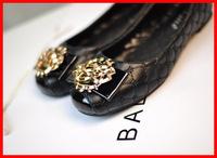 2014 Spring new star casual flat heel women shoes Round Toe bow metal logo sweet women flats luxury brand big plus size 40 41 42