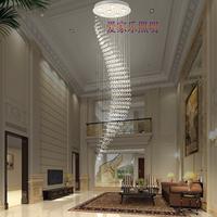 Stair lamp long pendant light modern brief led crystal lamp crystal pendant light ceiling light