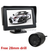 Free Shipping 4.3 Inch TFT LCD Car Monitor IR Car Camera Rear View Security System Parking Reversing System Kit