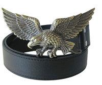 2014 new fashion Men's and women's fashion big eagle belt buckle belts