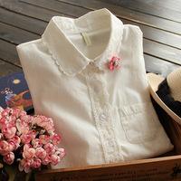New 2014 spring women blouse & Shirts fashion ladies blouses atacado roupas femininas camisas vintage Embroidery tops for female