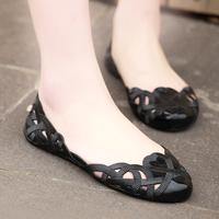 Hole sandals female cutout shallow mouth shoes jelly nurse shoes plastic women's sandals flat heel shoes