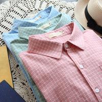 Women blouse & Shirts ladies blouses body shirt atacado roupas femininas camisas vintage plaid  loose female clothing