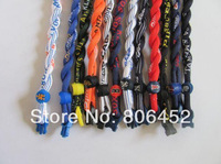 Wholesale  Titanium football basketball baseball college silicone sports 2 rope Twist Tornado teams nylon Teams necklaces