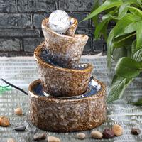 Ceramic desktop fountain ball fresh air counter