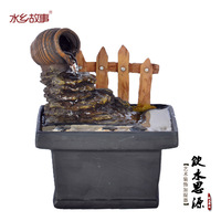 Resin water fountain decoration home decoration crafts lucky fashion
