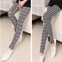 Print legging fashion female personality all-match elastic ankle length trousers