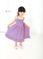 NEW! Kids Beach Dress 2014 New Polka Dots Children's Clothing For Girls Chiffon Dress Princess Dress Children