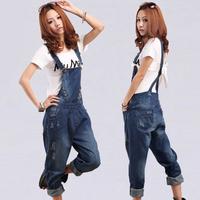 Plus Size women salopette / new jeans feet / women suspenders trousers