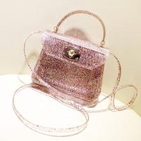 Luluhouse2014 summer fashion jelly  transparent shoulder  bag glitter beach candy color women's handbag