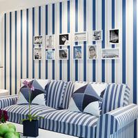 Non-woven Flock Printing Stripe Wallpaper TV Sofa Background Wall Paper Roll Decor papel de parede