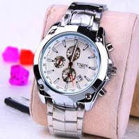 Fashion Stainless steel Strap Quartz Men luminous watch  ,Men Dress Wrist watch with Calendar Date , 30M Waterproof  167864