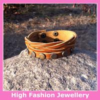 X1015 free shipping high quality classic jewellery bracelets newly design fashion genuine leather handmade wristband 10pcs/lot