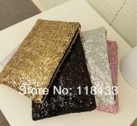 2014 New Glitter Sequin Spangle Day Clutch Bag Party Evening Envelope Bag Shoulder bag Women Ladies Bag Leopard Handbag