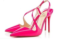 brand women pumps pointed-toe red shoes pumps high heels new 2014 red bottom high heels summer brand pumps designed red sole