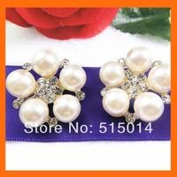 Pearls flower rhinestone brooch for wedding favor ,bouquet flower   200pcs/lot free shipping