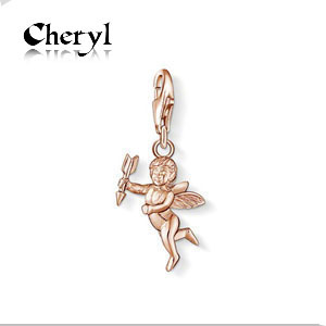 2014 Hot sell diy ts fashion charms bracelet alloys silver plated enamel jewelry pendant cupid TS81280