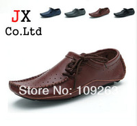 2014 Popular Genuine Leather Men loafers British Style boat shoe slip on Comfortable Flats Casual Driving Mocassin Shoes for Men