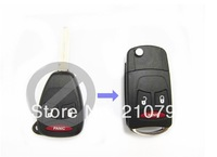 3 Button Remote Flip Folding Uncut Key Shell Case For Chrysler Dodge Dakota Durango Magnum 2 + 1 Panic