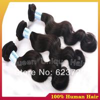 Mixed length 3pcs lot Queen hair products peruvian body wave unprocessed 100% virgin peruvian wavy hair