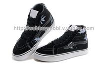 New 2014 Brand High Quality High-top Fashion Canvas Shoes Women Men Sneakers Hemp leaf Black Free shipping