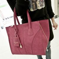 New 2014 spring fashion vintage scrub motorcycle bag genuine leather bag fashion women's handbag