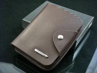 2014 Korean fashion business casual men's leather wallet zipper pocket bag cow pickup