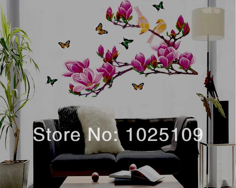 Online kopen wholesale paarse magnolia bloem uit china paarse magnolia bloem groothandel - Modern volwassen kamer behang ...