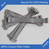 10pcs/lot LED display 16Pin Ribbon cable connect hub flat cable signal transmit data line adapter