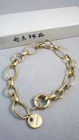 Bracelet glossy gold plated