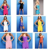 Fashion beach summer bikini cover-ups dress magicaf spaghetti strap bikini swimwear outside shirt