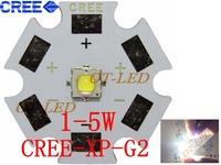 Freeshipping!10PCS Cree XPG2 XP-G2 1-5W LED Emitter Cold White 6000-6500K with 20mm Star PCB for Flashlight/spotlight/Bulb