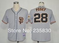 Fashion American baseball jersey San francisco Giants 28 Buster Posey MLB t-shirt 100 good quality