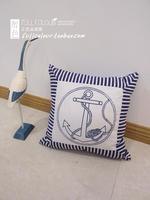 whole sale,ocean style Marine 100% cotton canvas print cushion pillow core