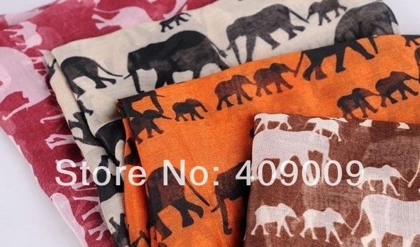 free shipping fasion cotton voile The elephant scarf /long head areb big warps 110*180cm(China (Mainland))
