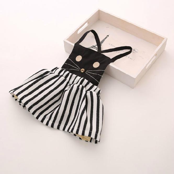 Livraison gratuite, hot vente 2014 vêtements pour enfants pour les filles, occasionnels, vêtements de fille, kitty, chat, robe, été,, coréen, robe de fille, cat