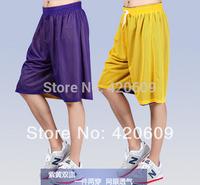 2014 High Quality Men Training Shorts 100% Polyester Basketball Game Trousers Reversible Mesh Beach Shorts 1Pcs