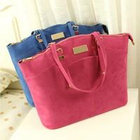 New 2014 women's fashion popular handbag scrub portable one shoulder big bag fashion women's handbag bag