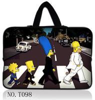 "Simpson 10"" 10.1"" Laptop Sleeve Bag Case+ Handle For Samsung Galaxy Tab /Apple iPad 3 2 1"