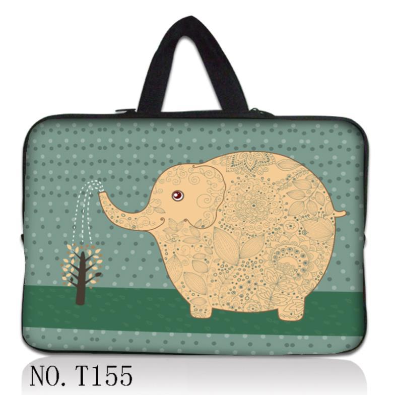 "10"" Elephant Laptop Sleeve Bag Case +Hide Handle For 10.1"" HP Mini 110 210 Netbook(China (Mainland))"