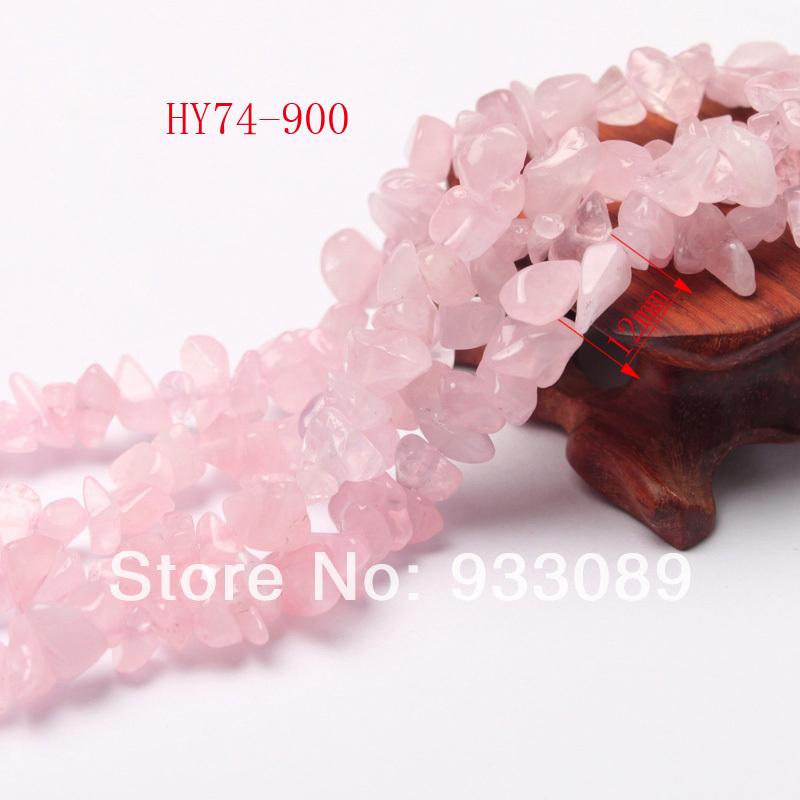 Free shipping 74-900 wholesale 90cm big natural rose quartz crystal chip beads semi precious stone(China (Mainland))