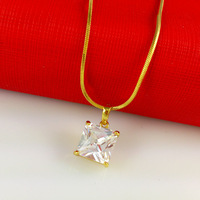 24k gold plated necklace 2014 New necklace with beautiful pendant charm Wholesale Free shipping ! A016
