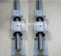 2pcs SBR25-850mm 25mm FULLY SUPPORTED LINEAR RAIL SHAFT & 4SBR25UU Bearing Blocks