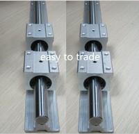 4 pcs SBR16-L640mm/ SBR20--800 mm  FULLY SUPPORTED LINEAR RAIL SHAFT & 8 SRB16UU / SBR20UU BLOCKS
