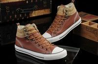 2014 winter tide Head layer cowhide Jiy Lin series canvas shoes flat shoes