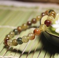 6mm Natural Stone Bracelet Rutilated Quartz Ladies Bracelet, Attract ove,New Fashion Jewelry