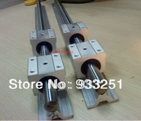 2pcs SBR25-1625mm 25mm FULLY SUPPORTED LINEAR RAIL SHAFT & 4SBR25UU Bearing Blocks