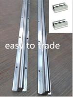 2 sets SBR25-1250mm FULLY SUPPORTED LINEAR RAIL SHAFT & 2 SBR25LUU bearing Block